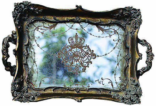 Creative Co-Op Antique Gold Resin Mirrored Tray by Creative Co-Op