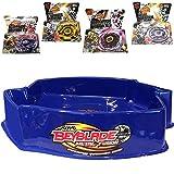 MW081 Ultimate Large Blue Pegasus Beystadium Set 4 Beyblades w/ Launchers + Stadium