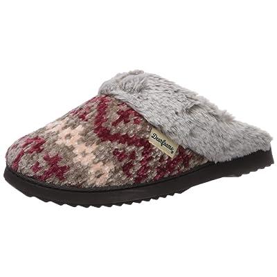 Dearfoams Women's Fairisle and Solid Chenille Knit Boot Slipper | Slippers
