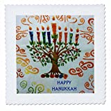 3dRose qs_32033_2 Hanukkah Menorah Quilt Square, 6