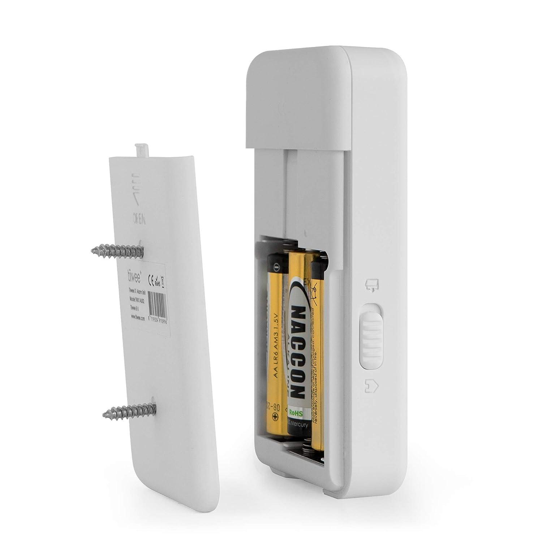 Inal/ámbrico 4 Sensores de Puerta y Ventana y 2 Controles Remotos tiiwee X1 Sistema de Alarma para el Hogar Sirena de 120 dB