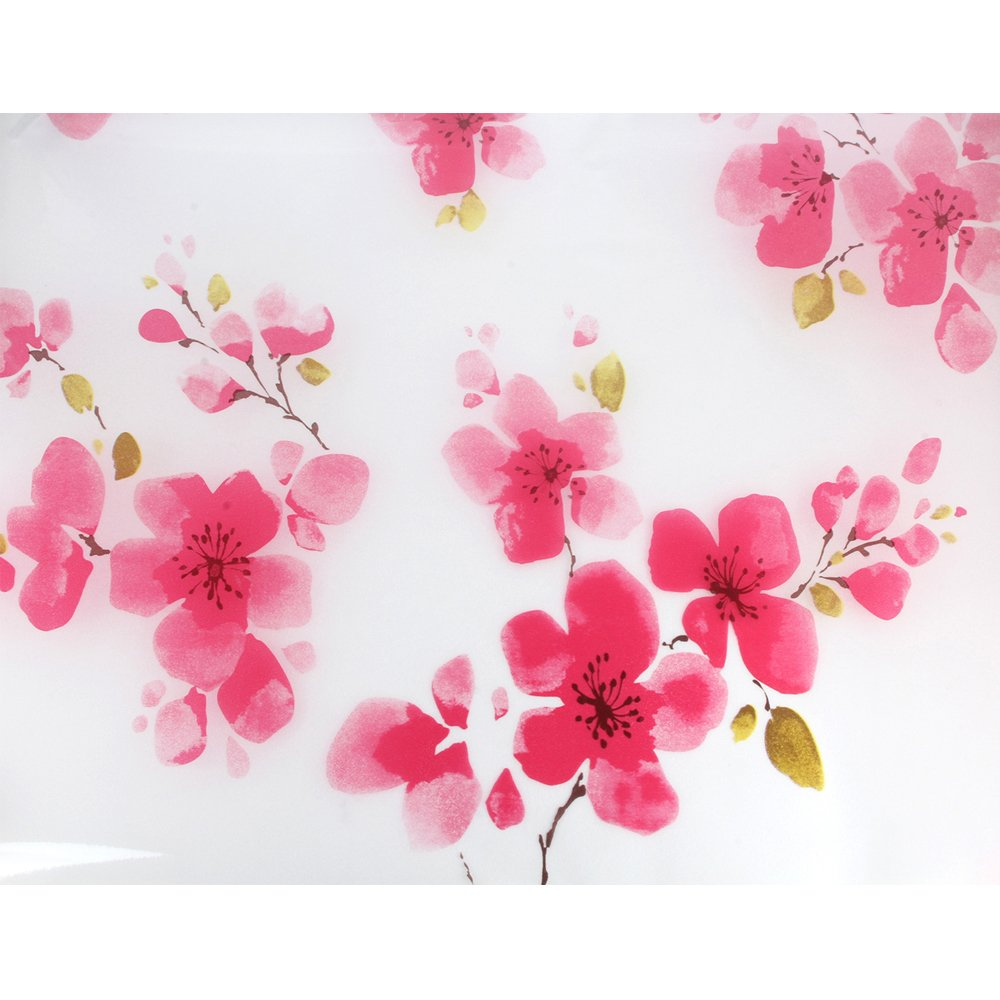 Red Flower Waterproof Window Glass Self Adhesive Film Sticker Frosted Privacy Home Bathroom 45x100cm(17.7x39.4inch)