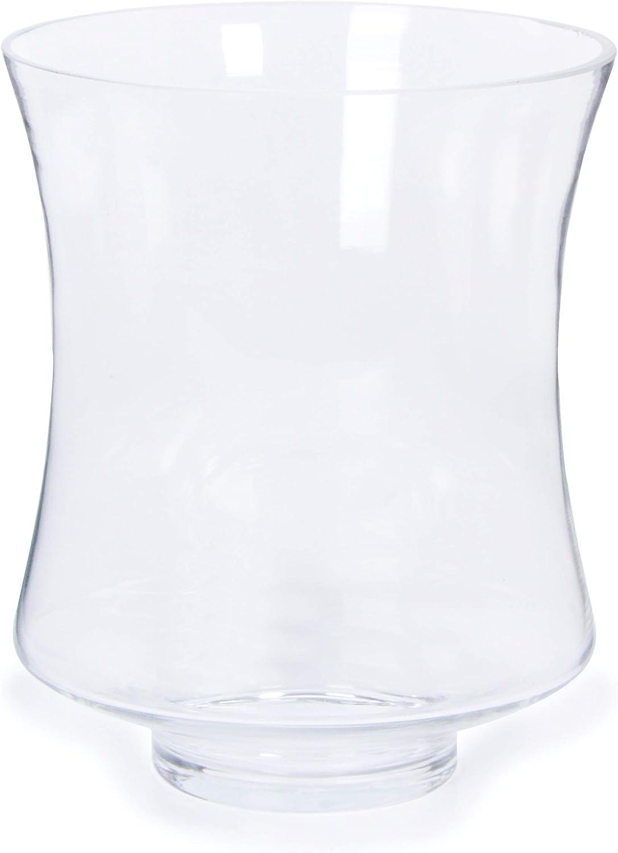 Darice XD1358 Glass Vase Hurricane Clear 9.1 in High
