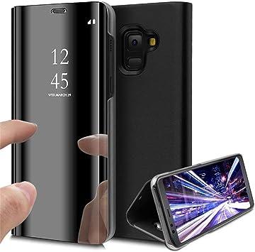 COTDINFOR Samsung A6 + 2018 Funda Espejo Ultra Slim Ligero Flip ...