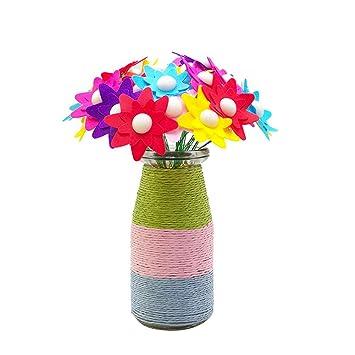 Yuccer Flores De Botones Fieltro Para Manualidades Actividades