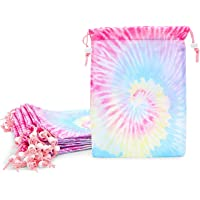 Tie Dye Party Favors, Pastel Drawstring Tote Bags for Kids (7 x 10.25 In, 20 Pack)