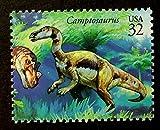 Camptosaurus Dinosaurs, USA -Handmade Framed Postage Stamp Art 13911