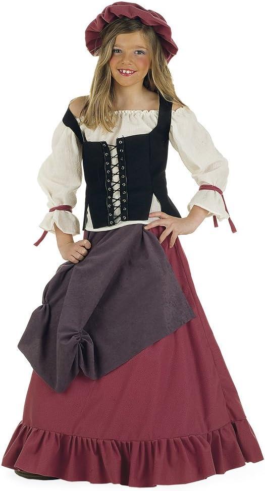 Lima - Disfraz de doncella medieval para niña, talla 9-11 años ...