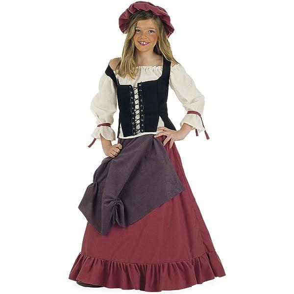 Lima - Disfraz de doncella medieval para niña, talla 11-13 años ...