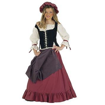 Lima - Disfraz de doncella medieval para niña, talla 11-13 años (MI356