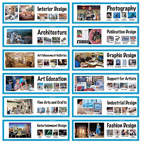 Crystal Productions CP1816 Art Display Cards-Careers in Art