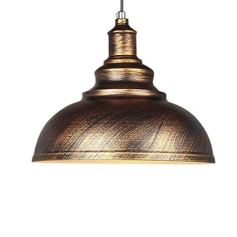Vintage lámpara colgante la Industria lámpara Dome Cuenco ...