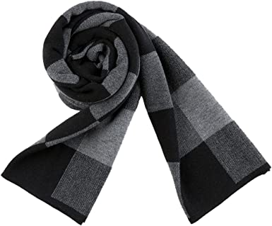 Juan Classic Plaid Soft Thick Winter Warm Wool Scarf for Men 73'' Cold  Weather Wool Long Scarves at Amazon Men's Clothing store