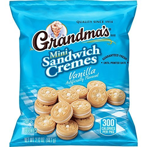 Grandma's Sandwich Cookies, Vanilla Creme Minis, 2.12 Ounce (Pack of -