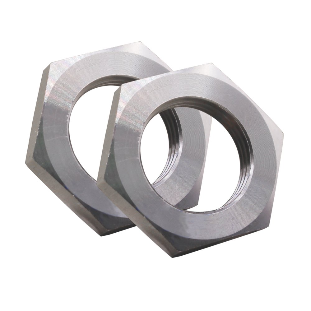 Dernord Cast Pipe Fitting Stainless Steel 304 Hex Locknut 3/4 Inch NPT Female (Pack of 2)