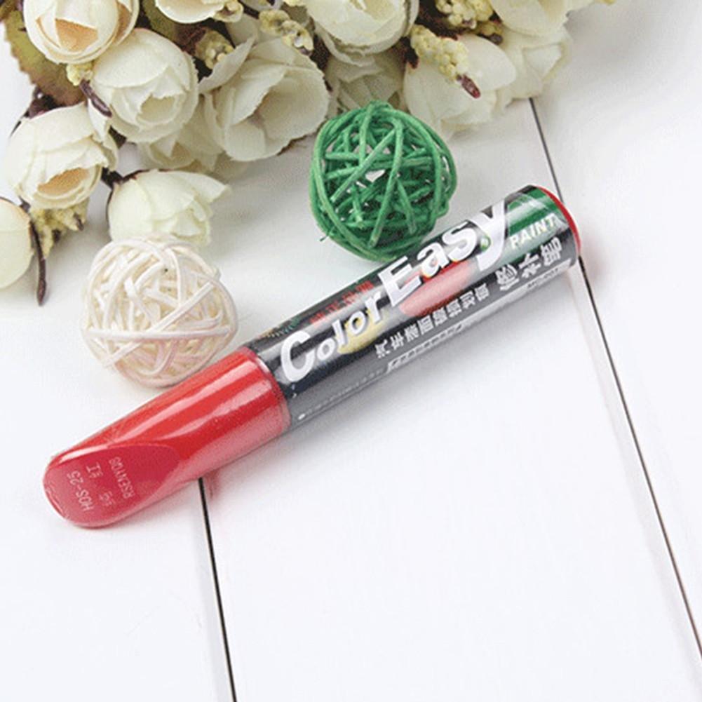 Funihut Auto Color Lackstift/Versiegelungsstift für Lackkratzer/Lackreparaturstift Weiß Schwarz Silber Rot 12ML, Car Paint Scratches Repair Pen Brush