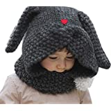 fe3a45d5280 Baby Boys Girls Winter Warm Hat Scarf Knitted Earflap Coif Hood Kids Cute  Beanies Caps for