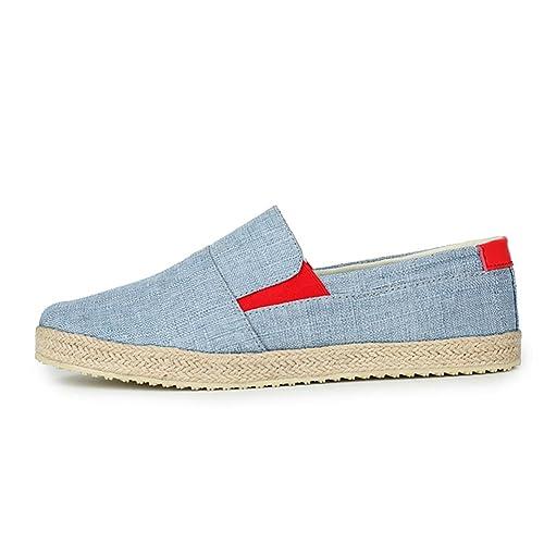 Zapatos de Lona de Verano para Hombres/Juventud Baja Permeabilidad Superior Zapatillas/Versión Coreana de Zapatos Marea Estudiante Hombres: Amazon.es: ...
