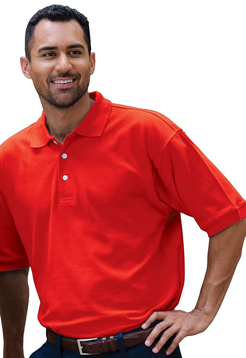 Jonathan Corey MenS Fine Pima Pique Polo Red 2X
