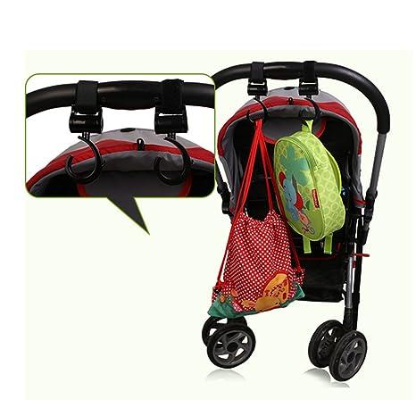 Ganchos Carrito Bebé Engancha tus bolsas de la compra, bolso o cambiador en el manillar de la Sillita, Cochecito o Silla de Ruedas(Pack de 2.