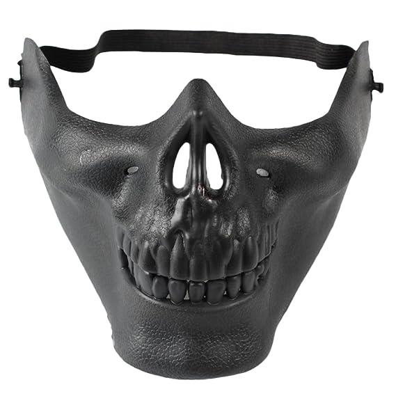 Gysad Diseño de media cara Mascara de miedo Cabeza de hueso Mascara halloween diablo Caretas carnaval
