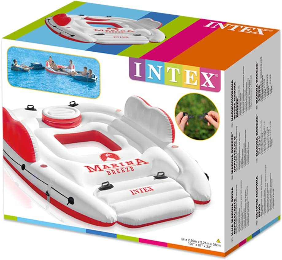 Intex 56296EU - Colchoneta Hinchable Isla Marina Breeze: Amazon.es ...