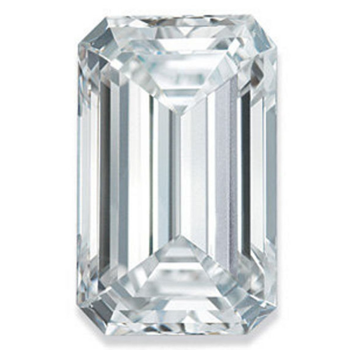 RINGJEWEL 2.86 ct VVS1 Emerald Cut Real Loose Moissanite Use 4 Pendant/Ring Genuine White I-J Color