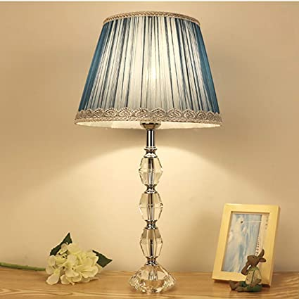 YJFFAN K9 lámpara de Mesa de Cristal para Sala de Estar 12 ...