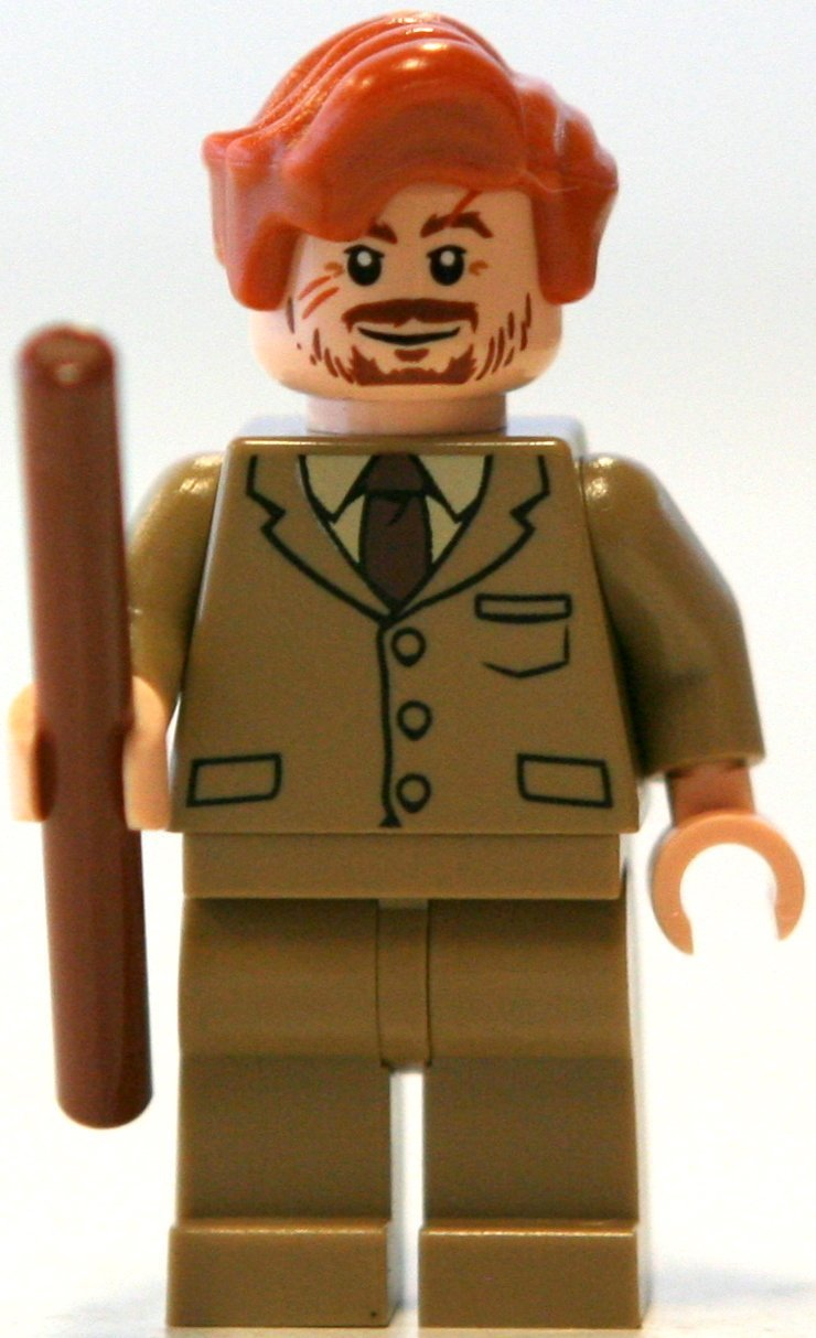 LEGO Professor Lupin w  Wand - Harry Potter Minifigure by LEGO