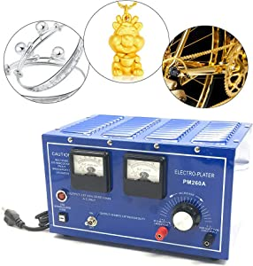 Gold Plating Machine, 30A 110V Platinum Gold Silver Plating Machine Jewelry Plating Rectifier Jewelry Plater Electroplating Rectifier (US Stock)