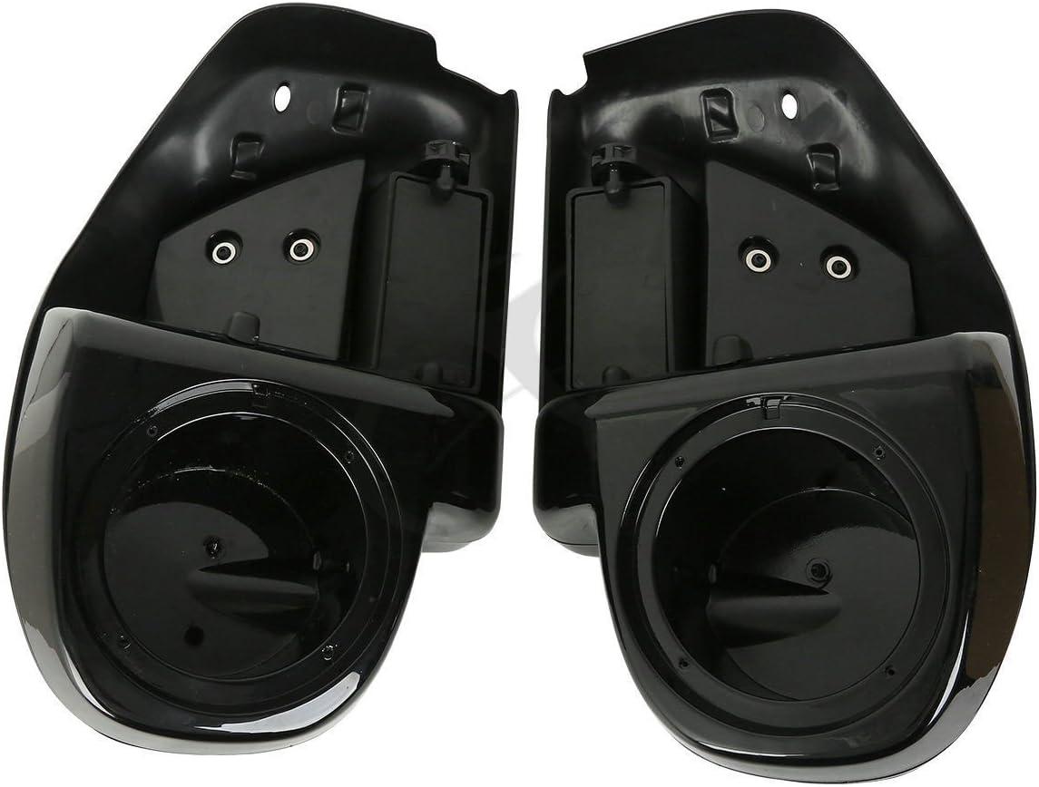 XMT-MOTO Lower Vented Leg Fairing w//6.5 Speaker pod box fits for Harley Davidson Touring Models 2014-later,Vivid Black