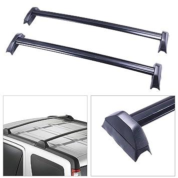 SCITOO fit for 2002 2003 2004 2005 2006 Honda CR-V Sport Utility 4-Door Aluminum Alloy Roof Top Cross Bar Set Rock Rack Rail