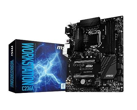 MSI C236A Socket LGA1151 Motherboard Motherboards at amazon