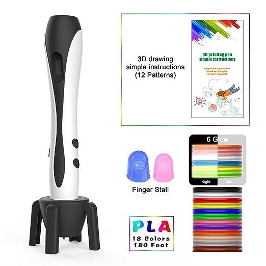 MIMI KING 3D Pluma 18 Colores Filamento Recambios, 3D Pluma De ...