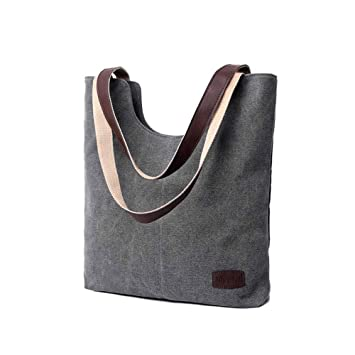 5e1c5adfbce90 Nlyefa Damen Shopper Schultertasche Canvas Groß Multifunktionstasche für  Schule und Alltag EINWEG