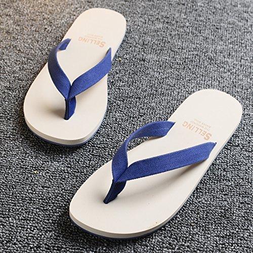 libero Infradito blue Flop spiaggia Sandali pantofole AIHUWAI da Estate uomo Tempo Sandali e Sandali Uomo uomo infradito The Flip da Scarpe Scarpe in gomma EZYqqwgX