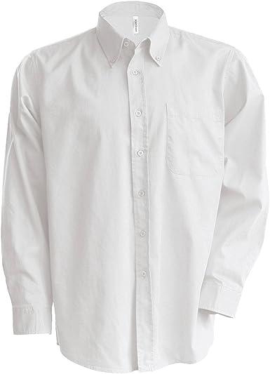 Kariban - Camisa Manga Larga Modelo Oxford Cuidado fácil (Tallas Grandes) Hombre Caballero - Trabajo/Boda/Fiesta: Amazon.es: Ropa y accesorios