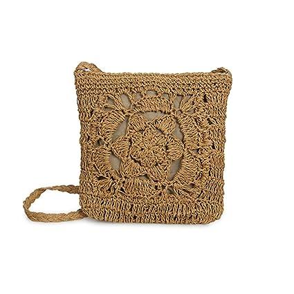PERFECTSHOW Bolso hecho a mano del ganchillo Bolso hecho punto bolso de  almacenamiento de la playa b1248eb09128