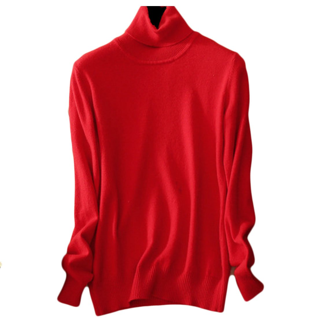 UUYUK-Women Fashion Long Sleeve Turtle Neck Loose Pullover Knit Sweaters