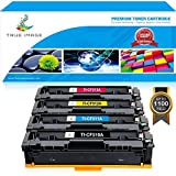 TRUE IMAGE 4 Packs 204A CF510A CF511A CF512A CF513A Toner Cartridge Compatible for HP 204A CF510A for HP Color Laserjet Pro MFP M180nw M154nw M180n M154a Pro MFP M181fw