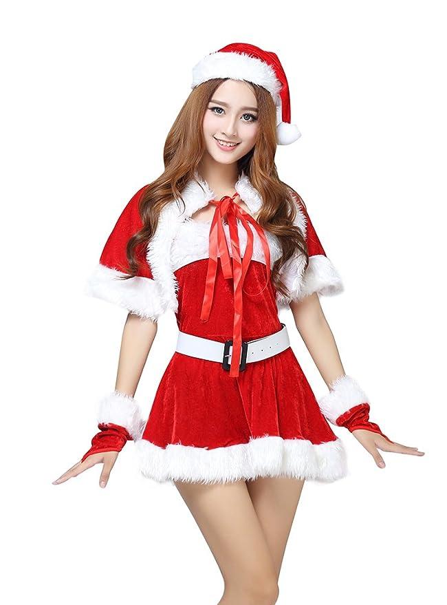 Baymate Mujer Disfraz de Navidad Conjunto Atractivo Cosplay Actuación Vestido
