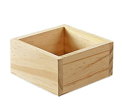 Lubier Macetas de plantas de jardinería caja de madera cuadrada de madera caja de almacenamiento de