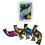 Aces High Blacklight Inspired Clear Plastic Waterproof Playing Cards, Poker Wide Size, Regular Index by Brybelly