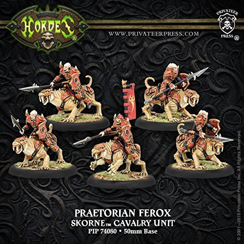 Hordes Skorne Praetorian Ferox Cavalry Unit Box by Privateer Press Miniatures