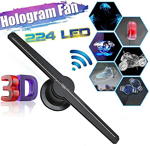 Holograma 3D de visualización de publicidad del ventilador LED, 3D ...