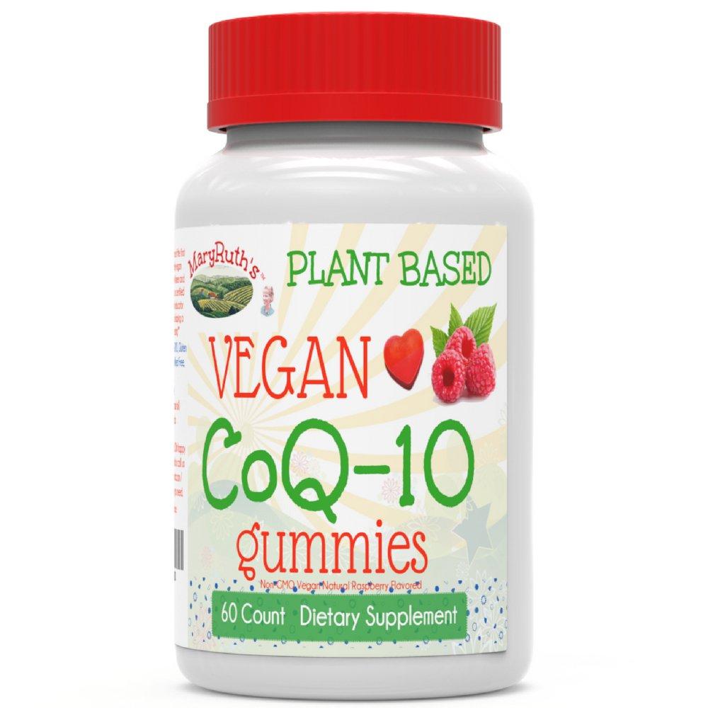 MaryRuth's Vegan CoQ10 Gummies Plant-Based Non-GMO Paleo Friendly Antioxidant Gluten Free Metabolism Dietary Supplement for Men, Women & Children 60-Count 120mg per Serving (2 Gummies)