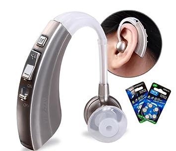 HSDMF Audífono Digital con control de volumen, amplificador de sonido personal, batería HA-66.600 horas recargable, diseñado por Audiólogos: Amazon.es: ...