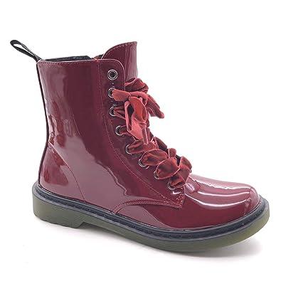 timeless design 53852 6f69d Angkorly - Damen Schuhe Stiefeletten Stiefel - Combat Boots ...