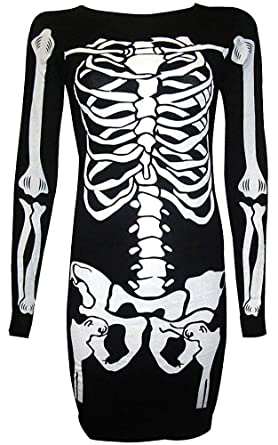 Amazon For G And Pl Womens Halloween Costume Skeleton Funny
