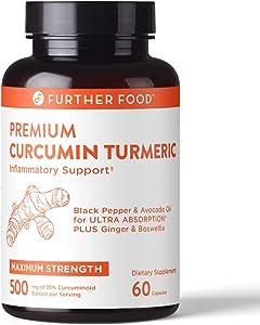 Premium Curcumin Turmeric Anti-Inflammatory Capsule - 30x More Powerful Than Ordinary Turmeric - 500mg Premium High Potency 95% Curcumin Supplement. Immune & Joint Support (2-Month Supply)